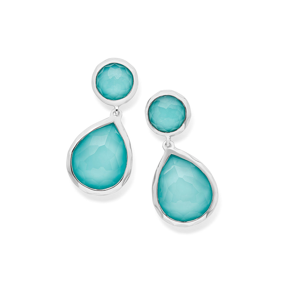 Turquoise and Clear Quartz Doublet