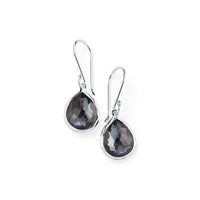 IPPOLITA Rock Candy® Mini Teardrop Earrings in Hematite and Clear Quartz Doublet