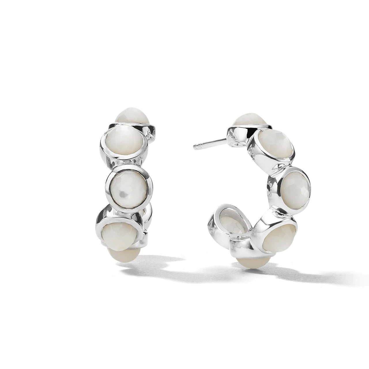 IPPOLITA Lollipop® Sterling Silver Mini Hoop Earrings with Mother-of-Pearl