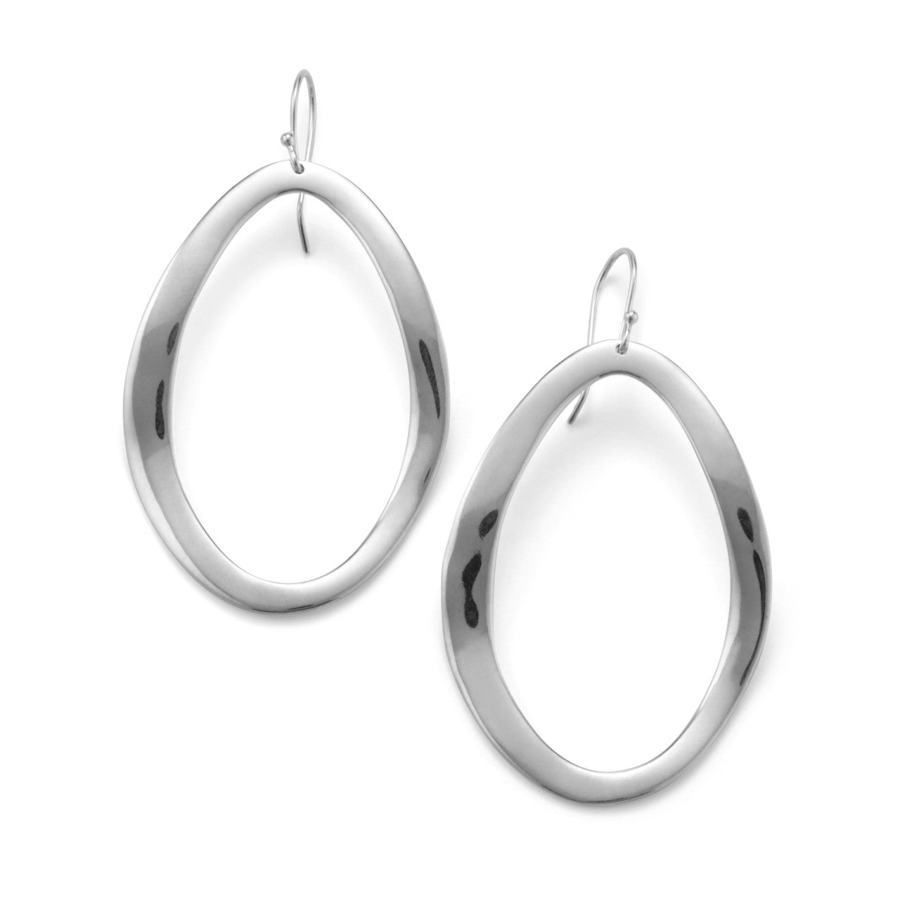 IPPOLITA Classico Sterling Silver Wavy Open Oval Earrings