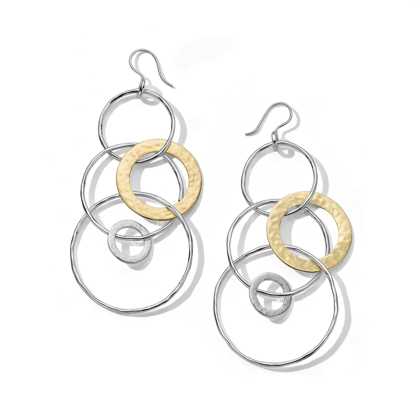IPPOLITA Chimera Sterling Silver and 18K Yellow Gold Jumbo Jet Set Dangle Earrings
