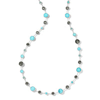 IPPOLITA Lollipop® Sterling Silver Lollitini Long Gemstone Station Necklace in Maritime Colorway