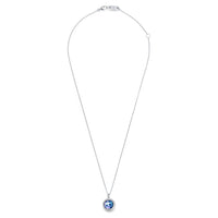 IPPOLITA Lollipop® Sterling Silver Clear Quartz, Mother-of-Pearl, and Lapis Triplet Pendant Necklace with Diamonds