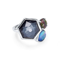 IPPOLITA Rock Candy® Sterling Silver Three-Stone Cluster Ring in Eclipse
