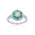 Load image into Gallery viewer, Sabel Collection 18K White Gold Diamond and Emerald Ring