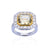 Load image into Gallery viewer, Sabel Collection 18K White and Yellow Gold Yellow Sapphire and Diamond Ring