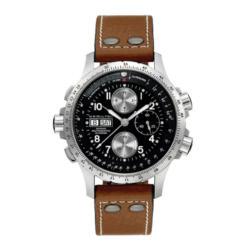 Hamilton X-Wind Chronograph Brown Strap Watch