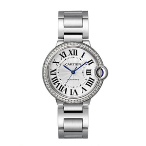 Ballon Bleu de Cartier 36 mm Steel and Diamond Watch