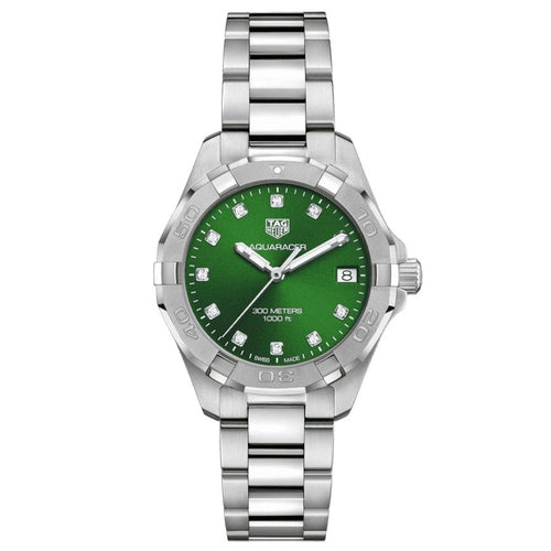 TAG Heuer Ladies' Aquaracer 32mm Stainless Steel Green Dial Watch