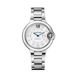 Ballon Bleu de Cartier 33 mm Steel and Diamond Dial Watch