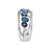 Load image into Gallery viewer, Marco Moore 14K White Gold Oval Sapphire and Diamond Multi-Row Ring