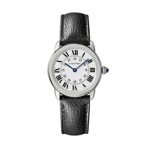 Ronde Solo de Cartier 29 mm Steel Leather Interchangeable Strap Watch