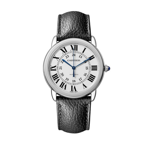 Ronde Solo de Cartier 36 mm Steel Leather Interchangeable Strap Watch