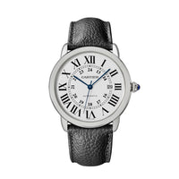 Ronde Solo de Cartier 42 mm Steel Leather Interchangeable Strap Watch