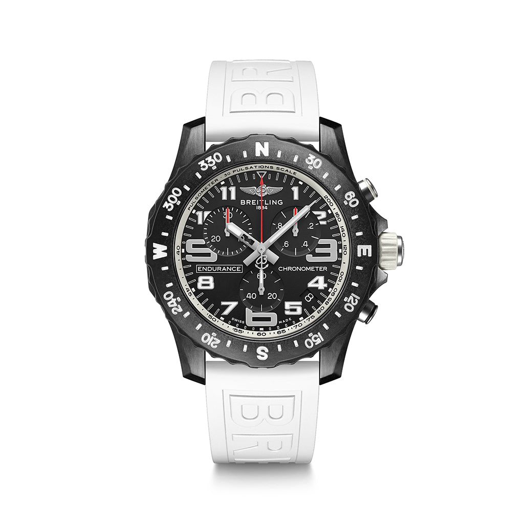 Breitling Endurance Pro 44 with White Strap