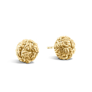 John Hardy Classic Chain 18K Yellow Gold Stud Earrings