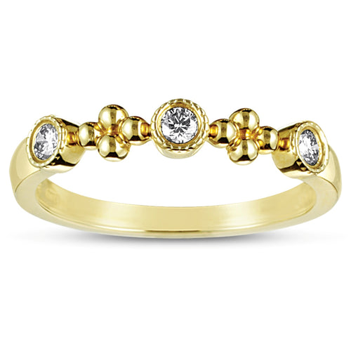 Sabel Collection 14K Yellow Gold Bezel Set Diamond Ring