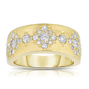 Sabel Collection 14K Brushed Yellow Gold Diamond Design Ring