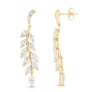 Sabel Collection 14K Yellow Gold Marquise Diamond Dangle Earrings