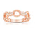 Load image into Gallery viewer, Sabel Collection 14K Rose Gold Diamond Twist Ring