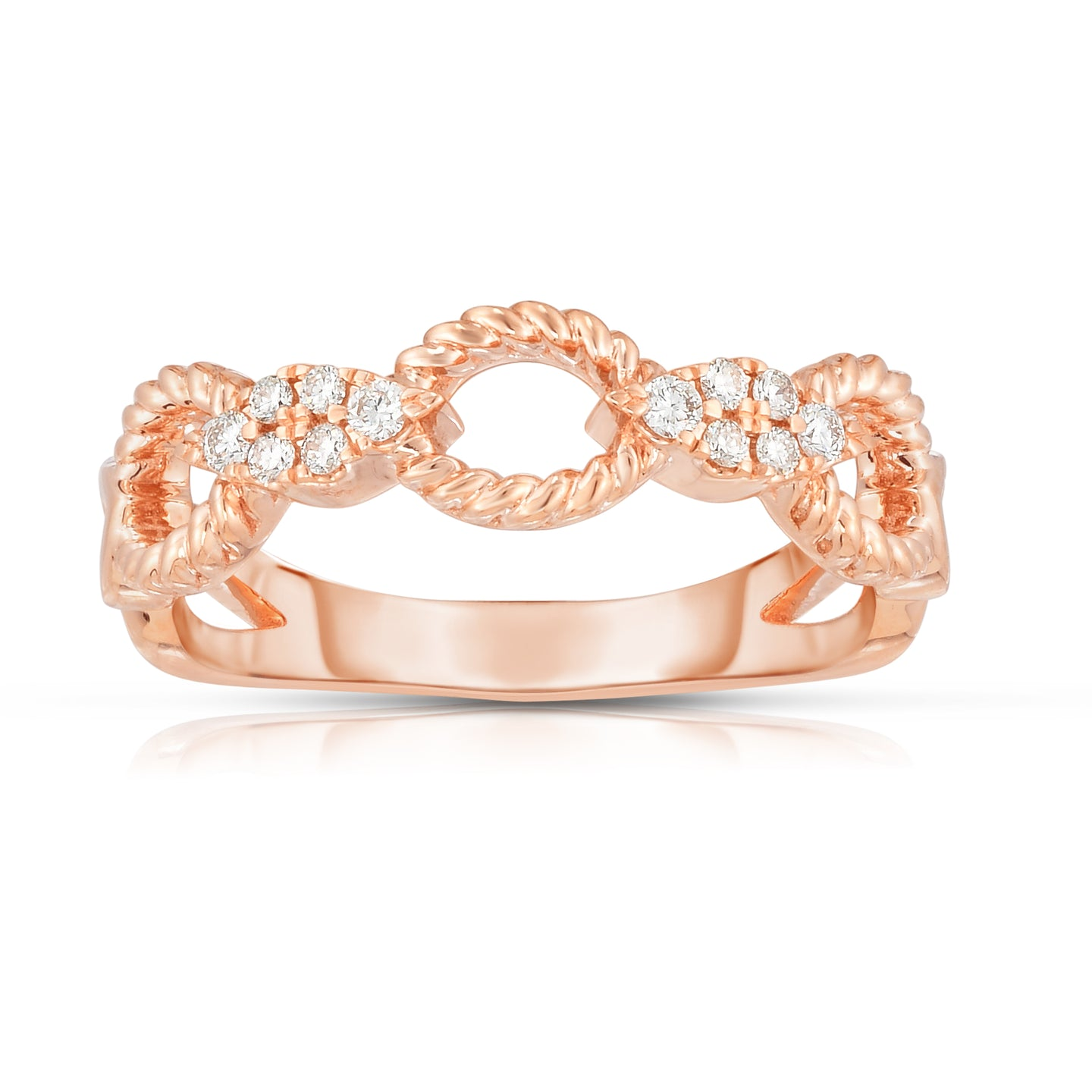 Sabel Collection 14K Rose Gold Diamond Twist Ring
