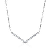 "Sabel Collection 14K White Gold Diamond ""V"" Necklace"