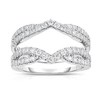 Fink's 14K White Gold Round Diamond Twisted Ring Jacket