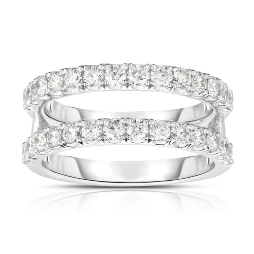 Fink's 14K White Gold Round Diamond Ring Jacket