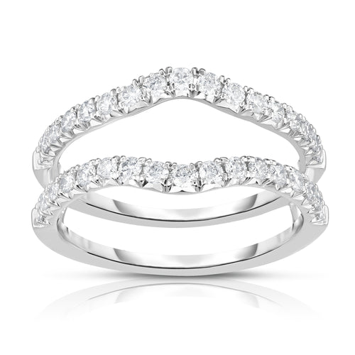 Fink's 14K White Gold Round Diamond Curved Ring Jacket