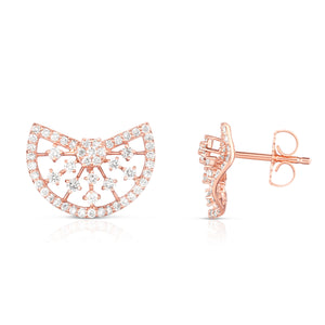 Sabel Collection 14K Rose Gold Diamond Fashion Earrings