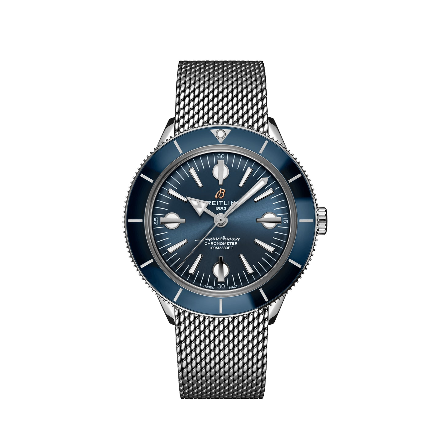 Breitling Superocean Heritage '57 Steel with Blue Dial and Steel Bracelet