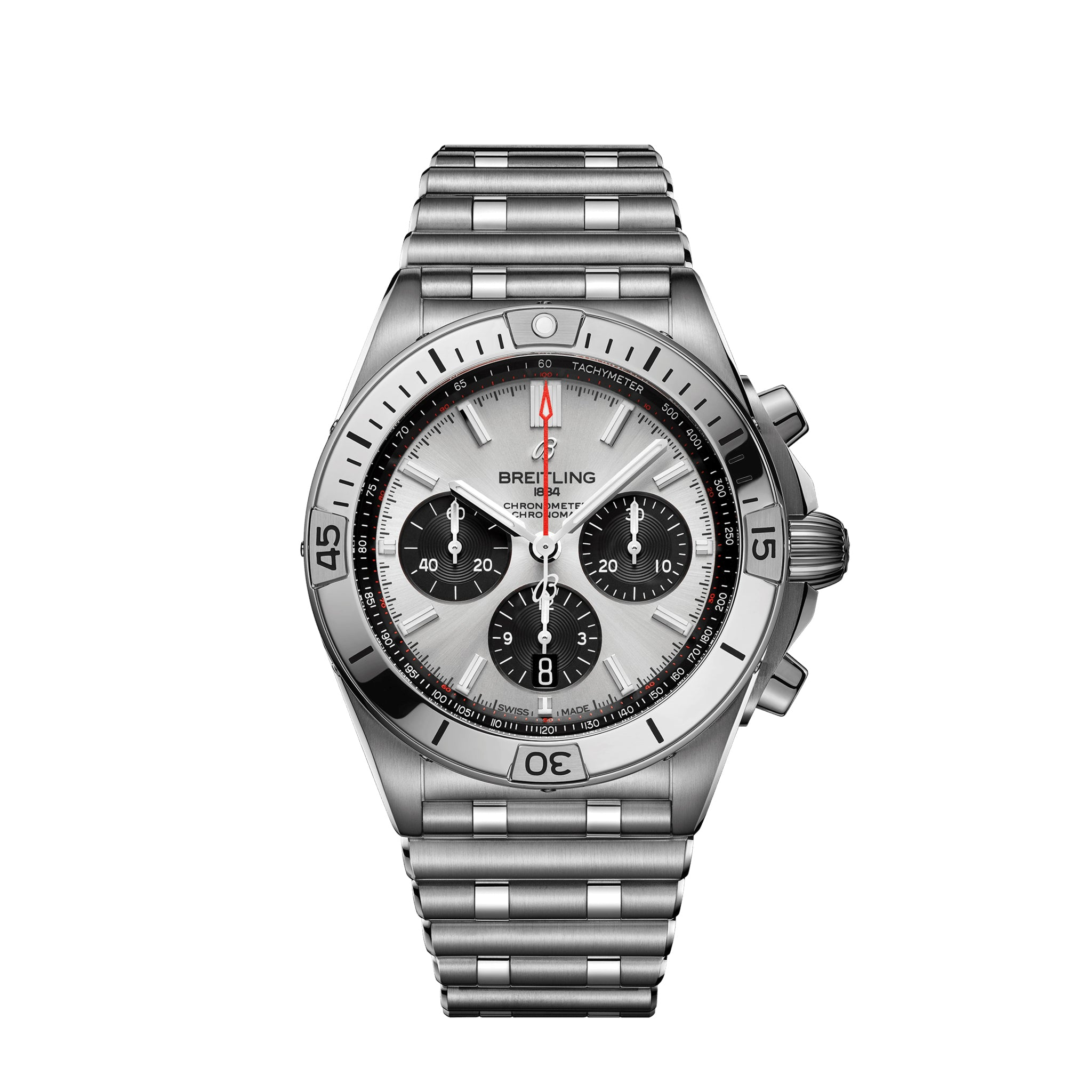 Breitling Chronomat B01 42 Steel with Silver Dial - Available for Pre-Order