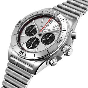 Breitling Chronomat B01 42 Steel with Silver Dial