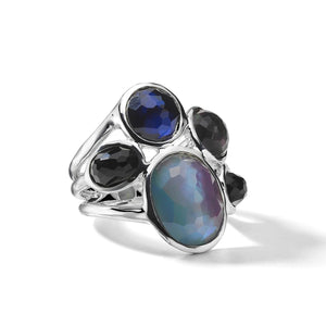 IPPOLITA Wonderland Sterling Silver Five Stone Ring in Astro Colorway