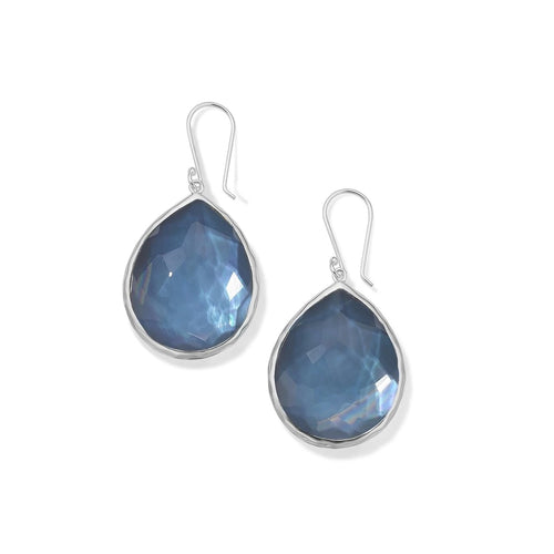 IPPOLITA Wonderland Sterling Silver Large Gemstone Teardrop Earrings in Celeste