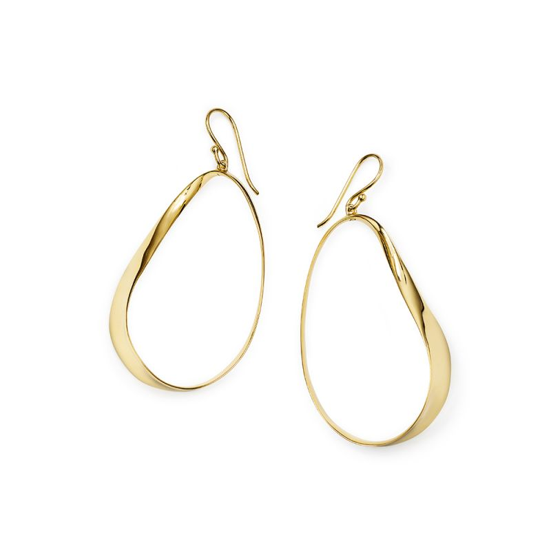 IPPOLITA Classico 18K Yellow Gold Hanging Twisted Ribbon Earrings