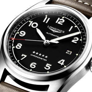 Longines Spirit Collection 40mm Black Dial Brown Leather Gent's Watch
