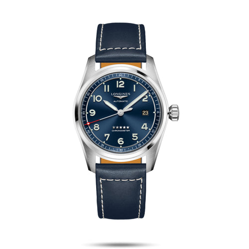 Longines Spirit Collection 40mm Blue Dial Blue Leather Gent's Watch