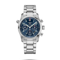 Longines Spirit Collection 42mm Blue Dial Chronograph Automatic Watch with Bracelet