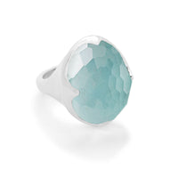 IPPOLITA Rock Candy® Sterling Silver Gemstone Doublet Prince Ring in Turquoise and Clear Quartz Doublet