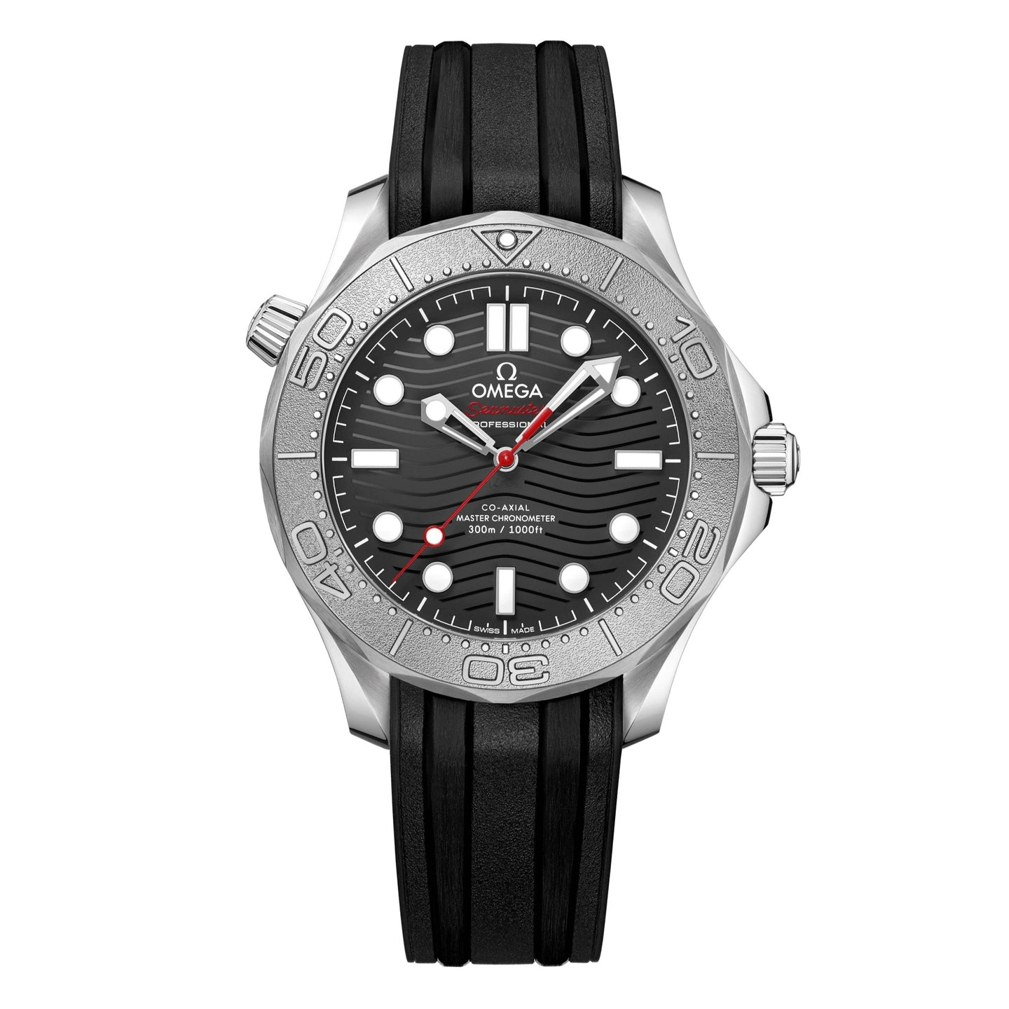 OMEGA Seamaster Diver 300M Co-Axial Master Chronometer 42mm with Titanium Bezel and Black Rubber Strap