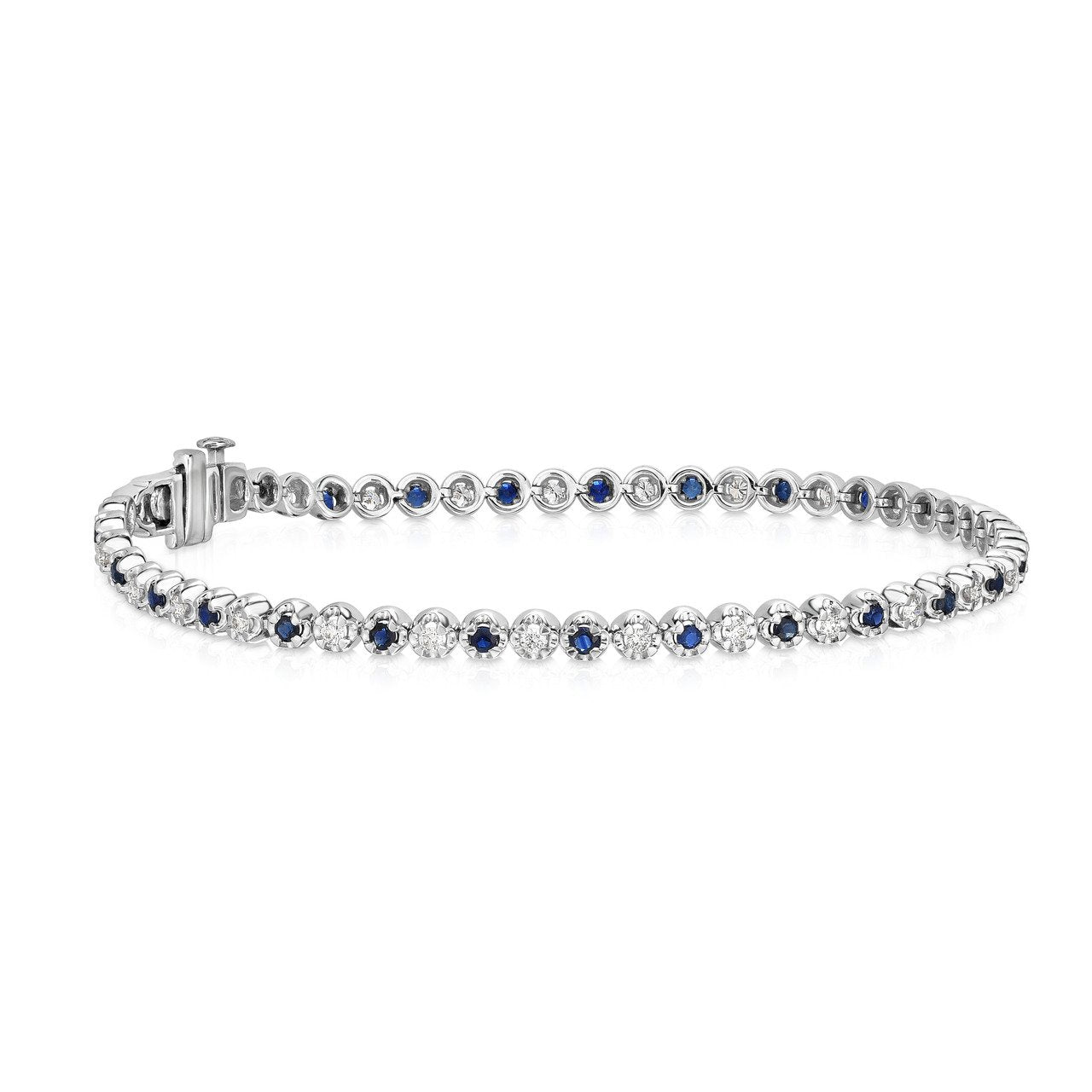 Sabel Collection 14K White Gold Sapphire and Diamond Bracelet