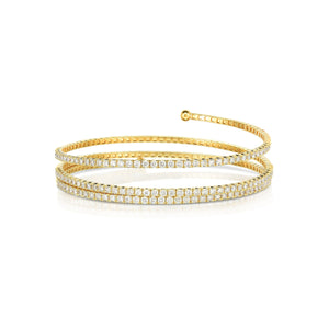 Sabel Collection 14K Yellow Gold Three Row Coil Bracelet