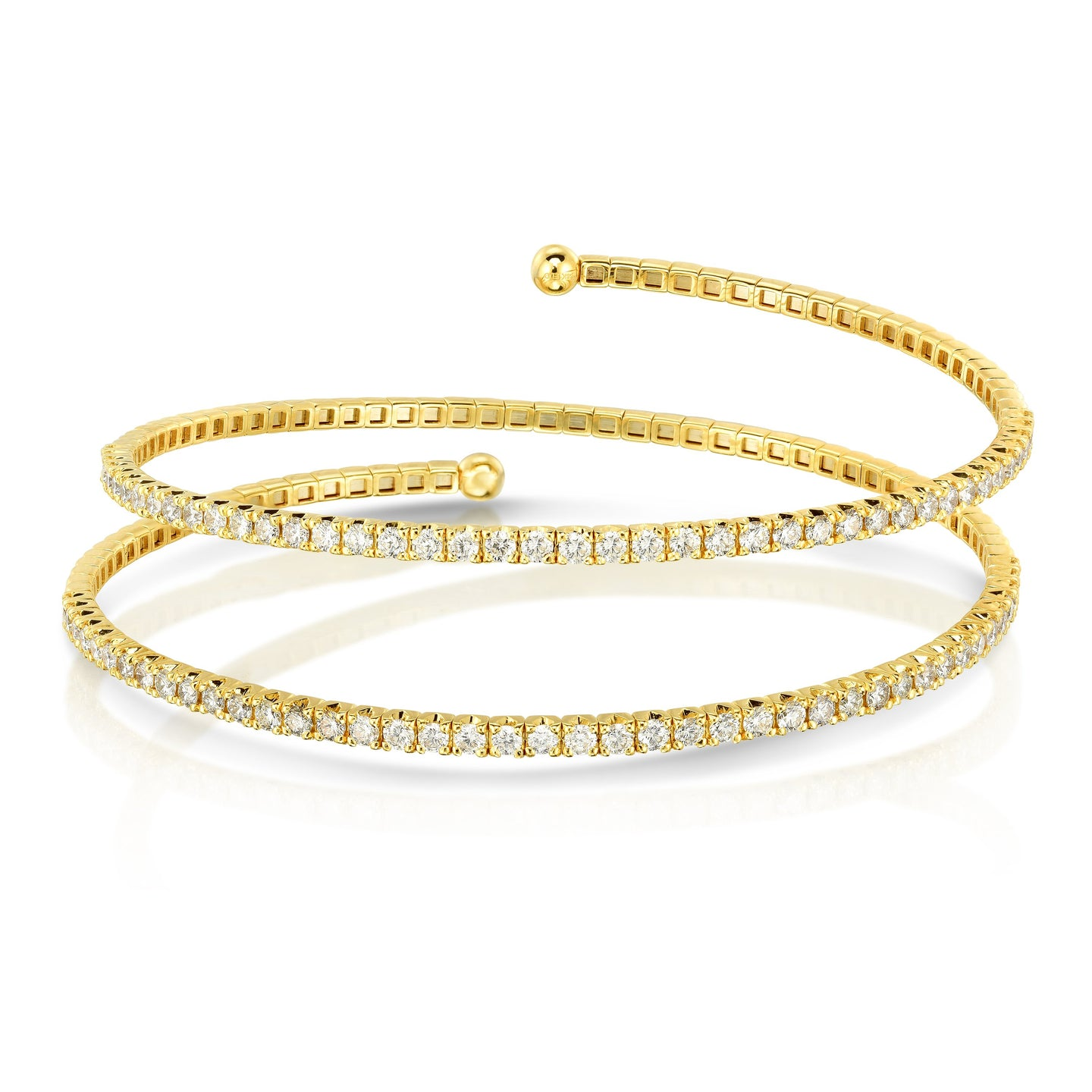 Sabel Collection 14K Yellow Gold Two Row Coil Bracelet