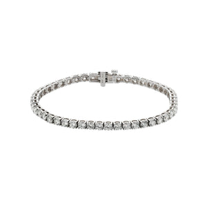 Sabel Collection 18K White Gold Prong Set Diamond Tennis Bracelet