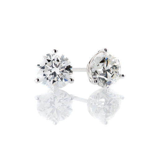 Sabel Collection Round Cut Diamond Studs .10-1.09cttw