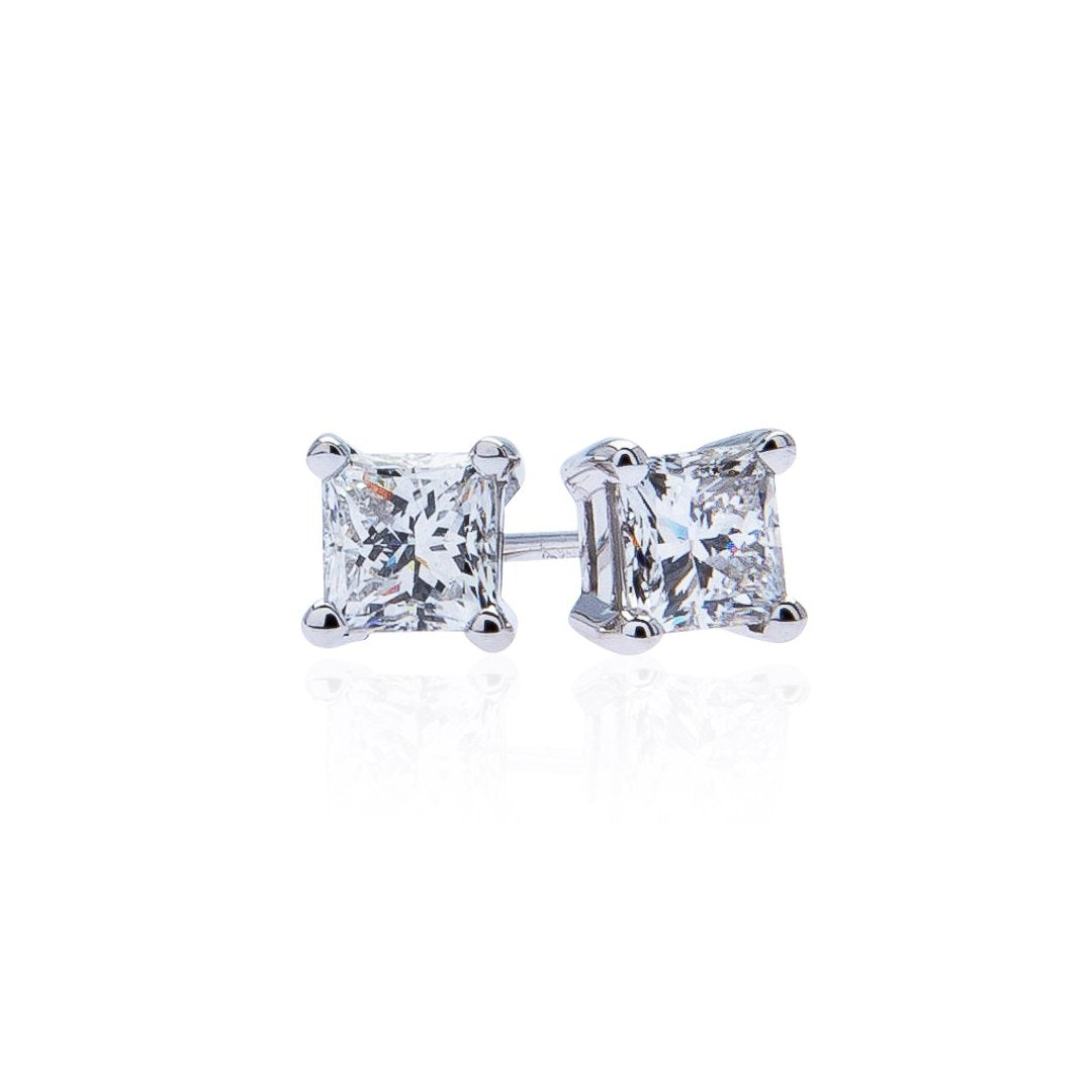 Sabel Collection Princess Cut Diamond Studs in 1.52ct