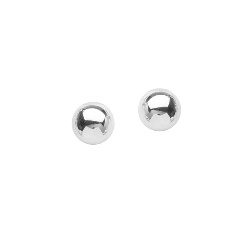 Sabel Everyday Collection 14K White Gold Ball Stud Earrings in 8mm