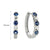 Load image into Gallery viewer, Sabel Collection 14K White Gold Sapphire and Diamond Huggie Hoop Earrings