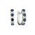 Load image into Gallery viewer, Sabel Collection 14K White Gold Sapphire and Diamond Mini Hoop Earrings